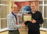 Dave MacNaughter presented with DTM award by David Beecroft, President NNSC